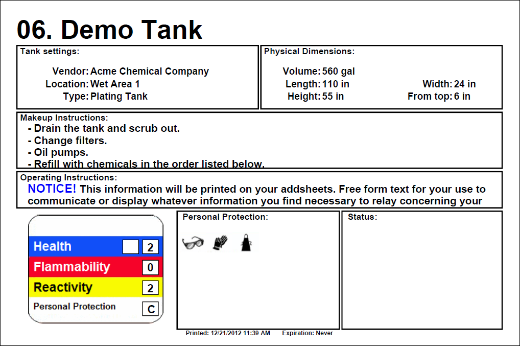 TrueChem :: Placard Examples » TrueLogic Company